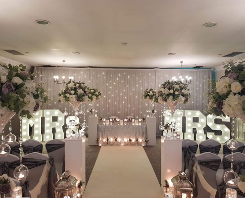 Large Mr and Mrs Light Up Letters for wedding hire