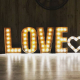 Metal Rustic letters that light up