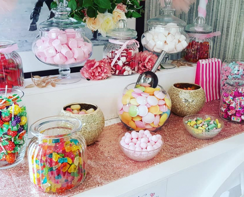 Sweet tables for weddings