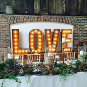 Rustic wedding letters for hire